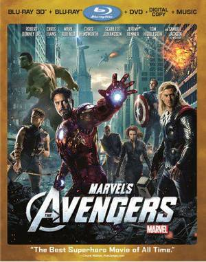 Marvels The Avengers four-disc Blu-ray/DVD/digital combo. Marvel Studios