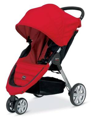 Photo - This photo provided by the U.S. Consumer Product Safety Commission shows a Britax B-Agile stroller being recalled January, Jan. 31, 2014. The hinge on the stroller's folding mechanism can partially amputate consumers' fingertips, break their fingers or cause severe lacerations, among other injuries, when they press the release button while pulling on the release strap.. (AP Photo/U.S. Consumer Product Safety Commission)
