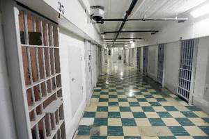 "photo - 2008 file photo - ""F"" Cell block in the original building at the Oklahoma State Penitentiary in McAlester, OK, Thursday, Jan. 10, 2008. BY PAUL HELLSTERN"