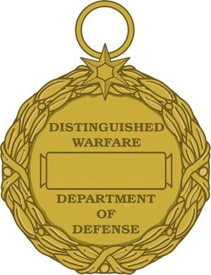 Photo - This image released by the Defense Department shows the reverse view of the newly announced Distinguished Warefare Medal. The military has stopped production of a new medal for remote warfare troops _ drone operators and cyber warfighters _ as it considers complaints from veterans and lawmakers over the award, a government official said Tuesday.  (AP Photo/Department of Defense)