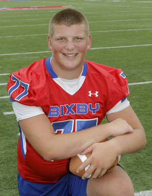 Photo - Chandler Miller, Super 30 player for Bixby High School in Bixby, OK, Monday, June 25, 2013,  Photo by Paul Hellstern, The Oklahoman