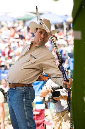 Photo - Exhibition shooter Frank Addington Jr, aka the Aspirin Buster, will be performing at the Oklahoma Tackle, Hunting and Boat Show Friday through Sunday at State Fair Park. <strong>Photo provided</strong>