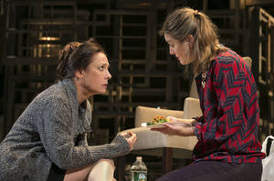 """Photo - This undated theater image released by Boneau/Bryan-Brown shows actress Laurie Metcalf, left, and Zoe Perry during a performance of """"The Other Place."""" (AP Photo/Boneau/Bryan-Brown, Joan Marcus)"""