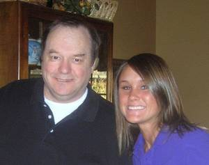 photo -  Bob Hersom and his daughter Katie. Photo provided