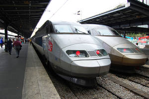Photo - Europe's high-speed rail, such as this French bullet train, is so successful that one airline is considering getting into the business.   Photo by Rick Steves    <strong>Photo by Rick Steves</strong>