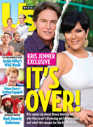 Photo - This cover image released by US Weekly shows the exclusive announcement about the break-up of celebrity couple Bruce Jenner and Kris Jenner.  The couple confirmed they've split and have been separated for a year. (AP Photo/US Weekly)
