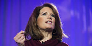 Photo - UNITED STATES - FEBRUARY 27: Rep. Michelle Bachmann, R-Minn., speaks during the Tea Party Patriots 5-year anniversary event at the Hyatt Regency on Capitol Hill. (Photo By Tom Williams/CQ Roll Call)