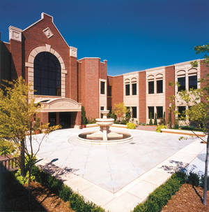 Photo -  The courtyard of Andrew M. Coats Hall at the University of Oklahoma's College of Law in Norman. PHOTO PROVIDED BY UNIVERSITY OF OKLAHOMA  <strong>PROVIDED</strong>