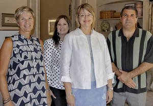 photo - From left: Katie Say, Karen Cathey, Jo Ann Pearce and Tony Say.