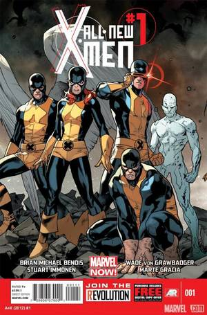 "Photo - The teenage original X-Men will be featured in ""All-New X-Men"" No. 1 in November.  Marvel Comics image"