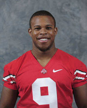 Photo -   In this undated photo provided by Ohio State University, football player Adam Griffin is shown. Griffin has climbed the depth chart at No. 14 Ohio State to become a backup cornerback. The son of Buckeyes icon Archie Griffin, the only two-time Heisman Trophy winner, is proud of his roots but eager to have his own play speak for itself. (AP Photo/Ohio State University, Jeff Mills)
