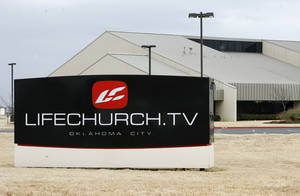 Photo - LifeChurch's sign is seen at 2001 NW 178. PHOTO BY PAUL HELLSTERN, THE OKLAHOMAN <strong>PAUL HELLSTERN</strong>