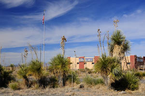 Photo -  The Fort Sill Apache Tribe's 30-acre reservation in Akela Flats, N.M. is home to a restaurant and a smoke shop. The tribe is suing New Mexico for recognition in that state. Photo courtesy Fort Sill Apache Tribe      <strong></strong>