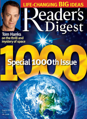 photo - In this 2005 magazine cover provided by Reader's Digest magazine, the 1,000th issue of the 83-year-old mini magazine, is shown.  The parent company of Reader's Digest has filed for Chapter 11 bankruptcy protection for the second time in less than four years on Monday, Feb. 18, 2013, saying it needs to cut its debt so it can keep restructuring. (AP Photo/Reader's Digest, file) NO SALES