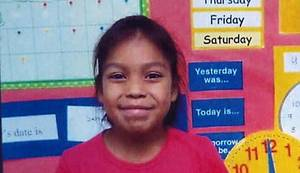 Photo - Rosalin Reynolds, the 8-year-old Watonga girl was found stabbed to death Wednesday. Photo courtesy of KOCO.com