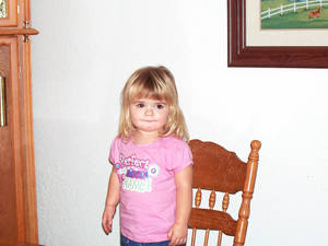 Photo - Madison Morgan The Enid 2-year-old was bitten on the upper thigh when four dogs attacked her.