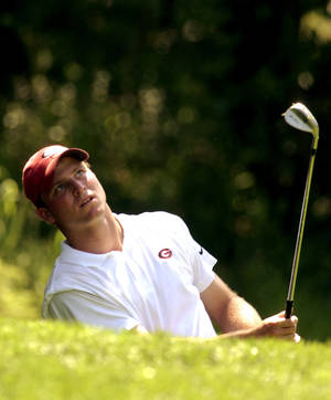 Photo - Ryan Hybl, shown here playing for Georgia in 2003, was named the men's head golf coach at Oklahoma on Monday. Hybl is the younger brother of former OU quarterback Nate Hybl, who transferred from Georgia to Norman in 1999. (Photo by Bryan Terry, The Oklahoman Archive)