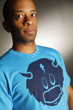 Photo - Blue Rumble T-shirt sold at Collected Thread. Photo by Doug Hoke, The Oklahoman <strong>DOUG HOKE</strong>