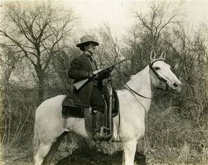 Photo - This image provided by the Oklahoma Historical Society shows Al Jennings in the Winter of 1913-1914. A pistol and other possessions belonging to the one-time Old West outlaw who later ran for governor of Oklahoma and became a film actor are going up for auction next month. (AP Photo/Oklahoma Historical Society)