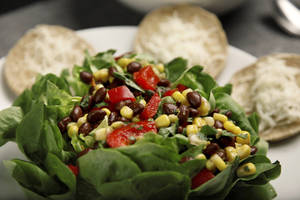 Photo - Black bean and corn salsa is heavy on healthy protein and hearty flavor. <strong>BRYAN TERRY - THE OKLAHOMAN</strong>