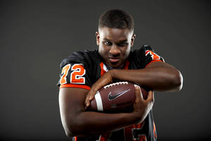 photo - All-State football player Cayman Bundage, of Douglass, poses for a photo in Oklahoma CIty, Wednesday, Dec. 14, 2011. Photo by Bryan Terry, The Oklahoman