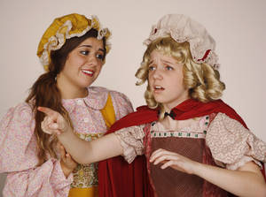 """Photo - Kendall Haliburton as the baker's wife, left, and Magen Eissenstat as Little Red Riding Hood are among the stars of the Putnam City North High School production of """"Into the Woods,"""" which opens Thursday."""