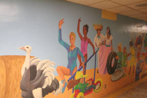 Photo - Murals on both sides of the 650-foot-tunnel illustrate the state's six regional areas. The underground passageway runs from the east side of the state Capitol that goes underneath N Lincoln Boulevard to parking lots on the east side of the street. <strong>BY MICHAEL MCNUTT - THE OKLAHOMAN</strong>