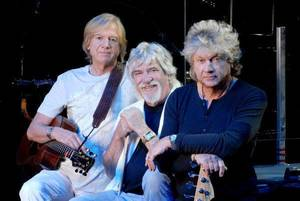 Photo - The Moody Blues:  Justin Hayward, Graeme Edge and John Lodge. Photo provided. <strong></strong>