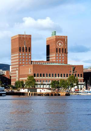 Photo - Oslo may be the world's most expensive city--but its waterfront City Hall has an inexpensive cafeteria open for lunch. (photo credit: Cameron Hewitt/Rick Steves' Europe)