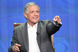 Photo - This publicity image released by CBS shows Leslie Moonves, President and Chief Executive Officer for CBS Corporation during the TCA Summer Press Tour 2013, on July 29, 2013 in Beverly Hills, Calif.  (AP Photo/CBS, Monty Brinton)