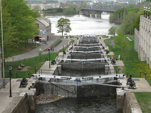 Photo -  The Rideau Canal locks figured in the history of Canada's capital, Ottawa, Ontario. Photo courtesy of Barbara Selwitz.