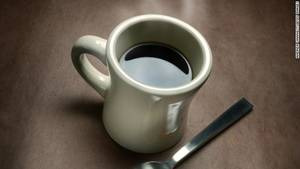 Photo - Coffee mug steaming
