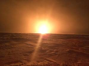 Photo - This photo provided by Royal Canadian Mounted Police shows a natural gas pipeline fire on Saturday, Jan. 25, 2014 near Winnipeg.  TransCanada says it has shut down the Emerson Lateral portion of the Canadian Mainline natural gas pipeline system and is venting the gas. Roads leading to the site have also been closed. It follows an explosion and fire at a valve site near St. Pierre-Jolys about 1:15 a.m. local time. TransCanada says venting the system generates a loud noise that will gradually lessen over several hours. The company says there is no risk to anyone.  (AP Photo/ Royal Canadian Mounted Police via The Canadian Press)