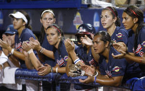 Photo - Arizona's softball team could be coming to Oklahoma for more than the Women's College World Series if the Pac-10 expands and takes Oklahoma and Oklahoma State. AP PHOTO