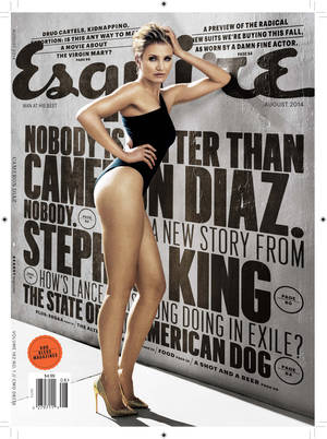 """Photo - This magazine cover image released by Esquire shows actress Cameron Diaz on the August issue of the men's magazine, on newsstands on July 18, 2014, the same day Diaz's new move, """"Sex Tape,"""" hits theaters. (AP Photo/Esquire)"""
