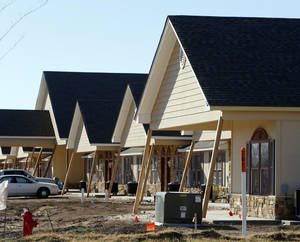 Photo - Apartments for seniors are being built on 36th Avenue NW at Rock Creek Road in Norman. Brookhaven Mansions is scheduled to open sometime this year.  PHOTO BY STEVE SISNEY, THE OKLAHOMAN