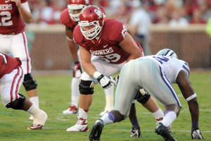 Photo - Lane Johnson. PHOTO PROVIDED BY OU <strong></strong>
