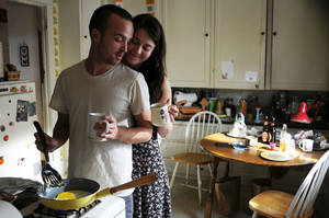 "Photo - Aaron Paul and Mary Elizabeth Winstead star in ""Smashed."" PROVIDED PHOTO"