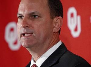 Photo - OU Athletic Director OU athletic director Joe Castiglione speaks during a media conference at Oklahoma Memorial Stadium in Norman, Okla., Monday, March 14, 2011. Photo by Nate Billings, The Oklahoman