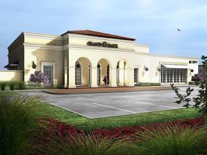 Photo - A rendering of a new 6,840 square foot bank buildng that Tulsa-based Grand Bank is constructing in Bixby. <strong></strong>
