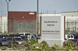 photo -   FILE - In this June 15, 2010 file photo, the Idaho Correctional Center is shown south of Boise, Idaho. A gang war that appears to have taken over parts of an Idaho private prison is spilling into the federal courts. A group of inmates at the Idaho Correctional Center is suing Corrections Corporation of America, contending the company is working with a few powerful prison gangs to control the facility and save money on staffing.(AP Photo/Charlie Litchfield, File)