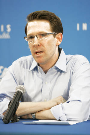 Photo - Thunder general manager Sam Presti likely won't make any blockbuster moves this season.