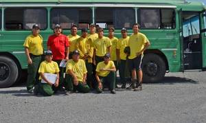 Photo - Members of the Cherokee Nation Fire Dancers left Tuesday for Oregon where they will join other firefighting teams battling blazes in northern California. (Provided)
