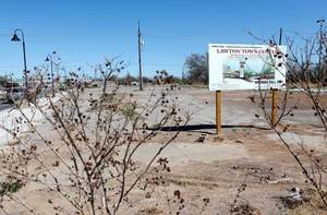 Photo - The site of Lawton Town Center, a new retail development project expected to open late this year. <strong>JIM BECKEL - THE OKLAHOMAN</strong>