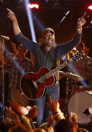 "Darius Rucker closes the 47th annual CMA Awards with a performance of ""Wagon Wheel"" at Bridgestone Arena on Wednesday, Nov. 6, 2013, in Nashville, Tenn. AP file photo."