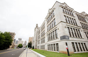 Photo - The old Central High School building is seen on Robinson Avenue in downtown Oklahoma City.  Photo by Paul B. Southerland, The Oklahoman