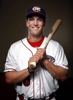 photo - Oklahoma City RedHawk outfielder Jake Goebbert poses for a photograph during media day for the Oklahoma City RedHawks in Oklahoma City, Tuesday, April 3, 2012. Photo by Sarah Phipps, The Oklahoman
