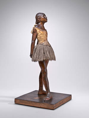 """Photo - This handout photo provided by the National Gallery of Art shows Edgar Degas' sculpture """"Little Dancer"""". The Kennedy Center in Washington is planning a major festival showcasing the artists of Spain and Portugal and will produce the first new musical during the 2014-2015 season. On Tuesday, the center is announcing an ambitious slate of theater, dance and music totaling more than 2,000 performances beginning in the fall. The new musical, """"Little Dancer,"""" is scheduled to make its premiere in October. It's inspired in part by an Edgar Degas sculpture at the National Gallery of Art. (AP Photo/National Gallery of Art)"""
