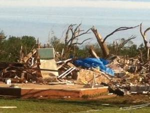 photo - The remains of a Piedmont house East of Sara Road near Falcon Lake - Photo by Robert Medley