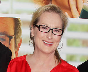 "Photo -   FILE - This Aug. 6, 2012 file photo originally released by Starpix show actress Meryl Streep at the premiere of the Columbia Pictures film ""Hope Springs,"" at the SVA Theatre in New York. Streep has donated $1 million to The Public Theater in honor of both its late founder, Joseph Pap, and her friend, the author Nora Ephron. The announcement was timed to Thursday's unveiling of the nonprofit's $40 million face-lift to its 158-year-old headquarters in Astor Place. (AP Photo/Starpix, Dave Allocca)"
